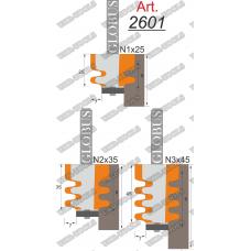 Фреза ГЛОБУС 2601 кромочная фигурная d8 N2x35 B30-45