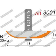 Фреза ГЛОБУС 3001 фигирейная горизонтальная D103 d12 h15