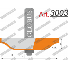 Фреза ГЛОБУС 3003 фигирейная горизонтальная D73 d8 h12