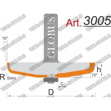 Фреза ГЛОБУС 3005 фигирейная горизонтальная D83 d12 h13