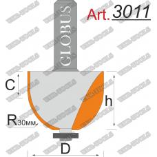 Фреза ГЛОБУС 3011 кромочная калёвочная D43 d12 h50