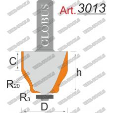 Фреза ГЛОБУС 3013 кромочная калёвочная D43 d12 h50