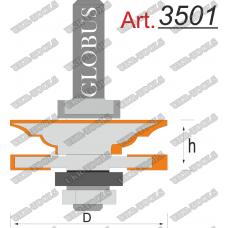 Фреза ГЛОБУС 3501 комбинированная рамочная D42 d8 l20