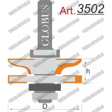Фреза ГЛОБУС 3502 комбинированная рамочная D42 d8 h20