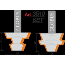 Фреза ГЛОБУС 3510 Set пазо-шиповая D44 d12 h30