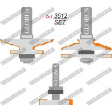 Фреза ГЛОБУС 3512 Set комбинированная рамочная D60 d12 h24
