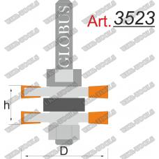 Фреза ГЛОБУС 3523 Set комбинированная пазошиповая D46 d12 h20