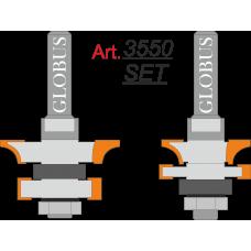Фреза ГЛОБУС 3550 Set комбинированная рамочная D38 d8 h21