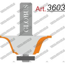 Фреза ГЛОБУС 3603 кромочная калёвочная D46 d12 h24