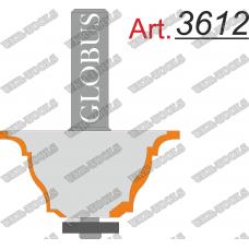 Фреза ГЛОБУС 3612 кромочная фигурная D60 d12 h24