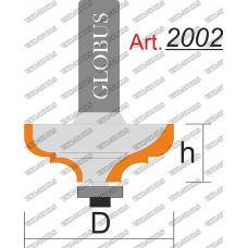 Фреза ГЛОБУС 2002 кромочная калевочная R8 D45 h20 d8