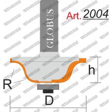 Фреза ГЛОБУС 2004 кромочная калевочная R4 D30 h12 d8