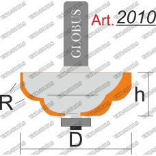 Фреза ГЛОБУС 2010 кромочная калевочная с нижним подшипником R8 D45 h18 d8