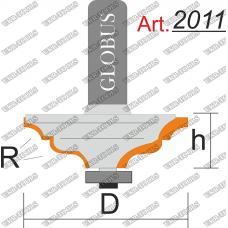 Фреза ГЛОБУС 2011 кромочная калевочная R4 D40 h14 d8