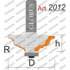 Фреза ГЛОБУС 2012 кромочная калевочная R6 D50 h22 d8