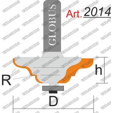 Фреза ГЛОБУС 2014 кромочная калевочная с нижним подшипником R6 D53 h20 d8