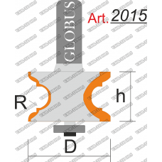 Фреза ГЛОБУС 2015 кромочная фигурная R4 D33 h22 d8