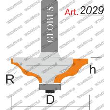 Фреза ГЛОБУС 2029 кромочная фигурная с нижним подшипником R6 D50 h22 d8