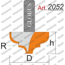 Фреза ГЛОБУС 2052 пазовая фасонная R4 D20 h12 d8