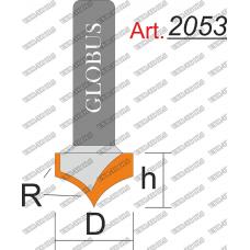 Фреза ГЛОБУС 2053 пазовая фасонная R8 D16 h11 d8