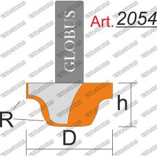 Фреза ГЛОБУС 2054 пазовая фасонная R3 D15 h10 d8
