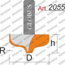 Фреза ГЛОБУС 2055 пазовая фасонная R5 D25 h15 d8