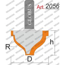 Фреза ГЛОБУС 2056 пазовая фасонная R6 D24 h14 d8