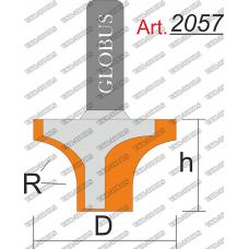 Фреза ГЛОБУС 2057 пазовая фасонная R6 D19 h10 d8